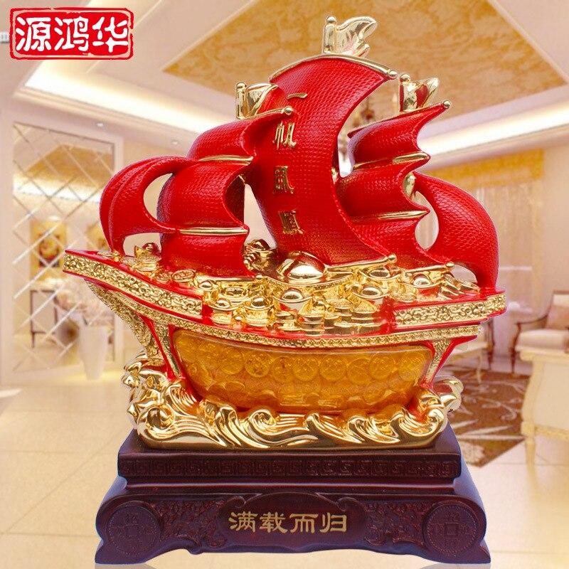 Enrichissant voile plaqué or rouge résine artisanat ornements cadeaux créatifs mobilier de bureau mobilier de salon