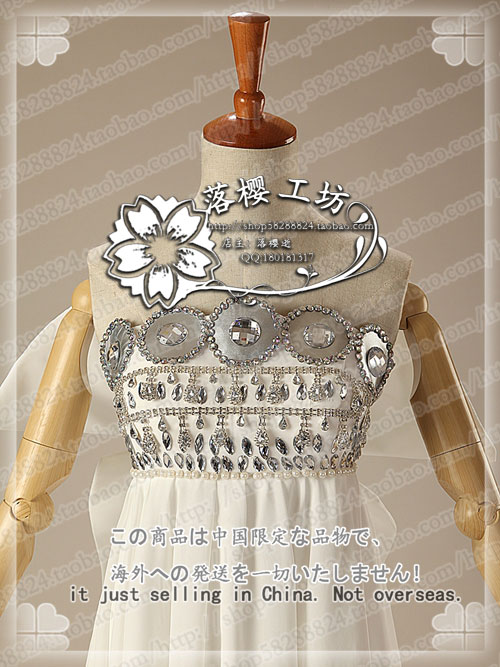 Sailor Moon Princess Tsukino Usagi White Luxury Chiffon Party Dress Halloween Cosplay Costume Uniform Outfit Custom made - 4