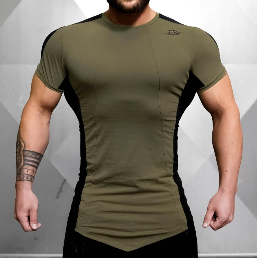 2017,Mens Tight-Fitting Short-Sleeved T-shirts