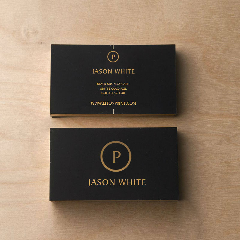 Customized Business Card Black & Gold High Quality Business Card ...
