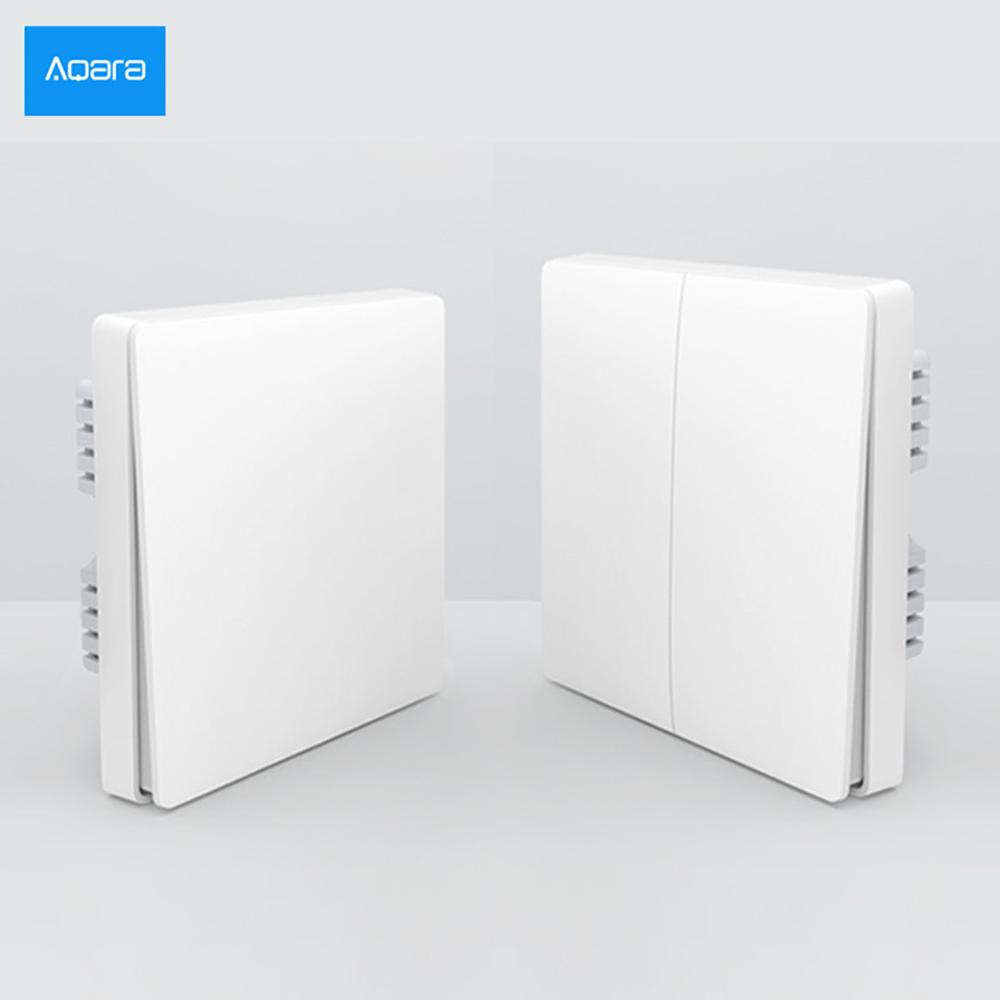2019 NEW Version Xiaomi Aqara Mijia Smart Home Light Control ZiGBee Wireless Key And Wall Switch Via Smarphone APP Remote