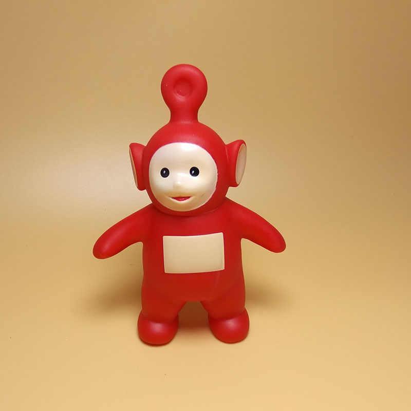 1 Pcs Cute Kawaii Teletubbies Action Figure Kartun Silikon Vinyl Figurine Hiasan Mainan untuk Anak-anak Poppetjes Dekorasi Kue