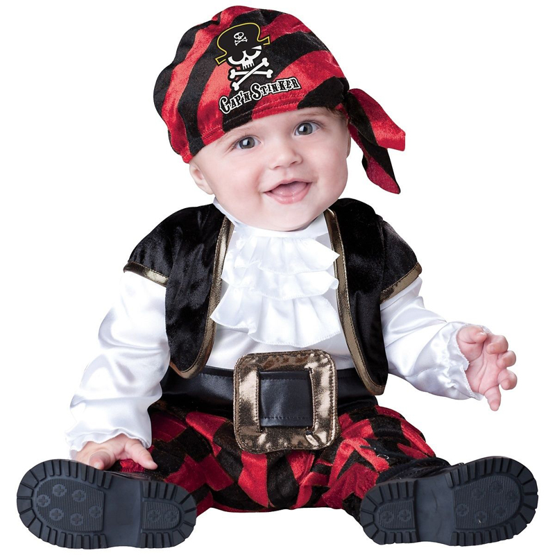 Adorable Baby Pirate Costume Captain Stinker Halloween Fancy-Dress