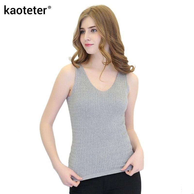 100% Silk Women's Tanks Tops Women V Neck Silk Knitted Twist Weave Female Slim OL Fashion Vest Tank Tops Woman