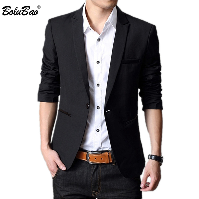 BOLUBAO New Brand Men's Suit 2019 Spring Autumn Male England Suit Dress Slim Fit Wedding Tuxedo Formal Blazers Clothes Men