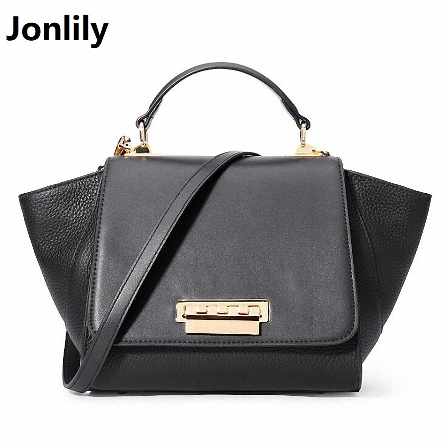 Real Cow Leather Ladies HandBags Women Genuine Leather bag Totes Messenger Bags High Quality Designer Luxury Trapeze Bag SLI-403 donghong real cow leather ladies hand bags women genuine leather handbag shoulder bag hign quality designer luxury brand bag