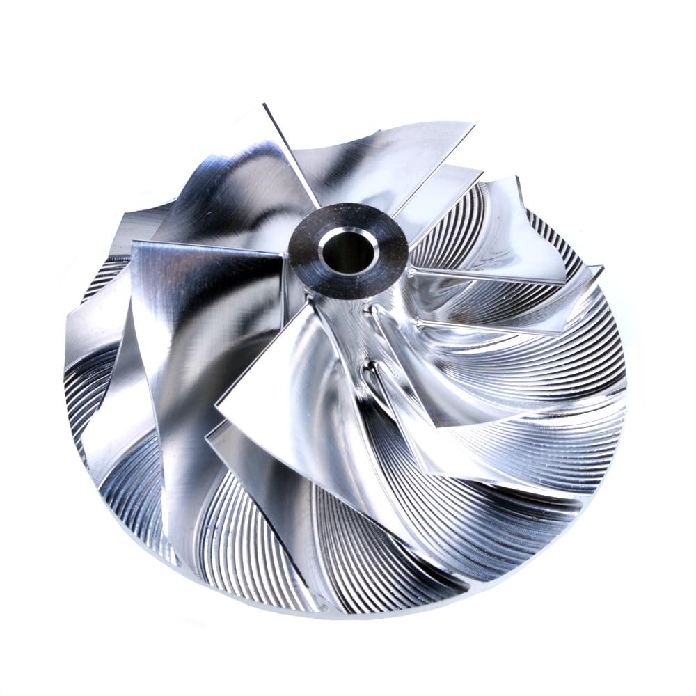 Kinugawa Turbo Billet Compressor Wheel 41.93/55.69mm 6+6 for Mitsubishi 4G63 Airtrek TD04HL-15T kinugawa turbine outlet steel flange 5 bolt f rd falcon xr6 g rr tt gt3540 turbo 412 03002 006