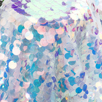 Iridescent Sequin Party Tablecloth Glitter Fabric Party Backdrops For Wedding Valentine's Baby Shower Mermaid Unicorn DIY Decor