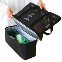 High Capacity Picnic Cooler Bag Portable Food Beer Cooler Multifunction Hands Baby Diaper Bags Bottles Food