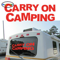 Carry On Camping Personalized Lettering Art Graphic Car Sticker For Camper Van SUV Trailer Truck