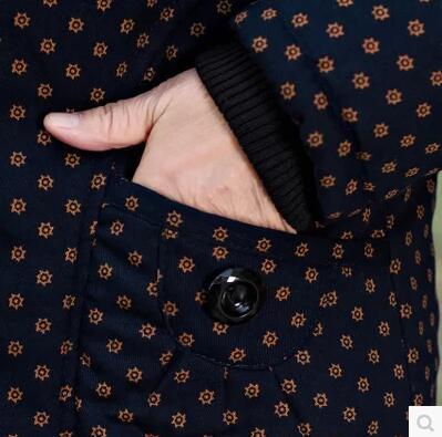 Maman Ans Lâche 60 Veste 70 Femmes Âgées Coton De Noir Grande mère Rembourré 2018 Matelassé Grand Manteau Taille rouge D'hiver q8xZngg