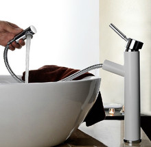 Выдвижной ручкой одной ручкой керамический патрон хром ванной смеситель
