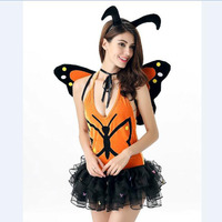 Sexy Halloween Masquerade Lady Bug Insect Costumes For Women Butterfly Clothing Anime Cosplay Adult Flower Fairy