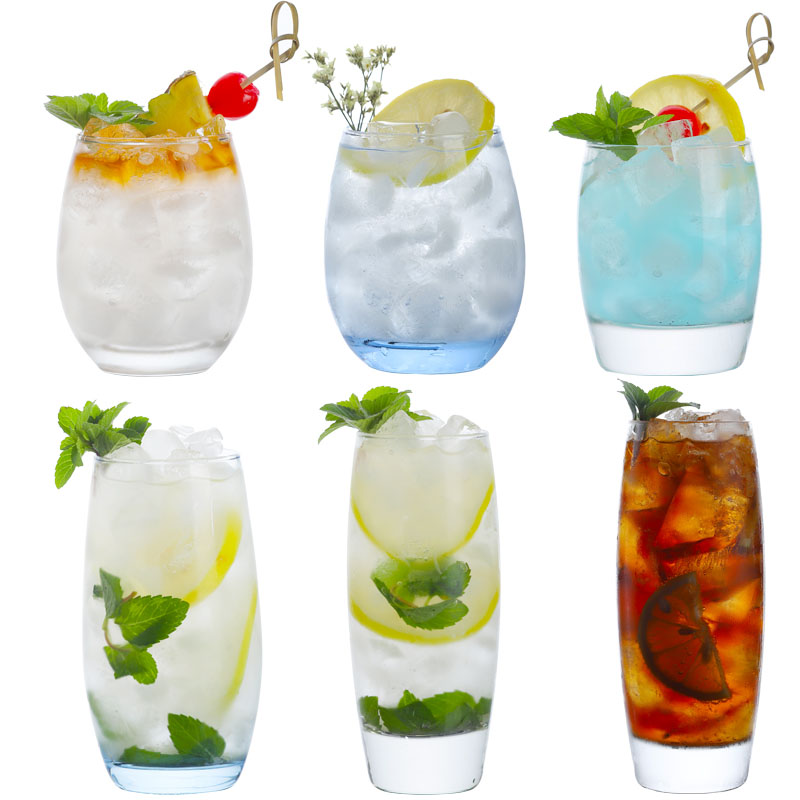 Drinking-Glasses Tumbler Crystal Highball Glass Beer Cocktail Collins for Water-Juice
