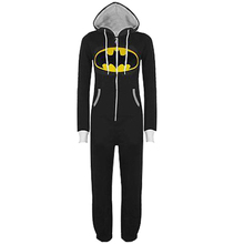 Unisex Adult Onesies Pajamas Cosplay Superhero Superman Batman Costume Jumpsuits Sleepwear Homewear Fancy Dress