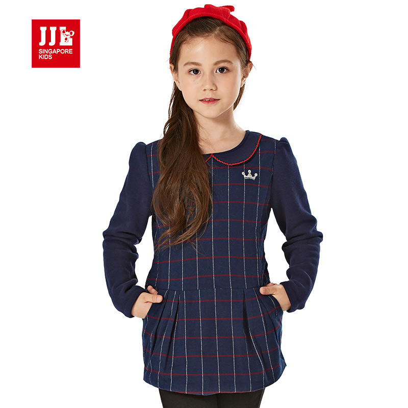 girls winter dress 2015 brand preppy style children dress for kids clothes baby girl dress christmas dress 6-15Y детский костюм ielts and children s clothes bx006 2015 1 6