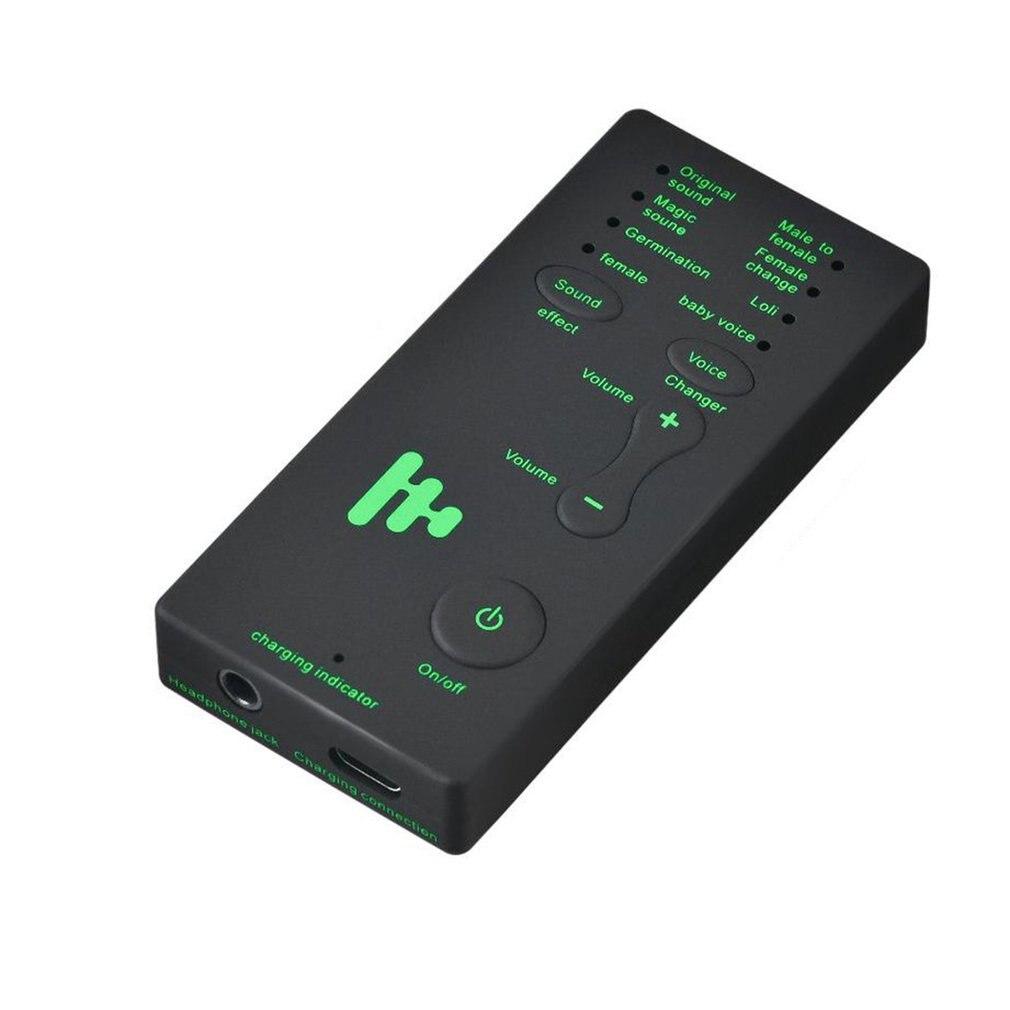 Mini trocador de voz adaptador 8 modos de mudança de voz microfone disjuniser telefone trocador de voz adaptador para pubg mic jogo