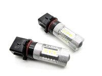 4 XCar מלא Cr וווים XBD Led P13W 80 W הנורה סופר חזק זנב לבן ערפל אור הנהיגה led הנורה פנס drl עם עדשה
