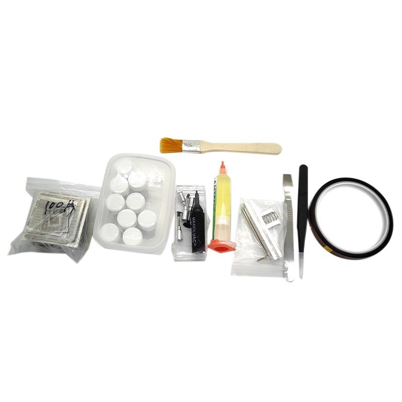 110Pcs Bga Reballing Directly Heat Stencils + Solder Paste Balls Station Kit For Smt Rework Repair