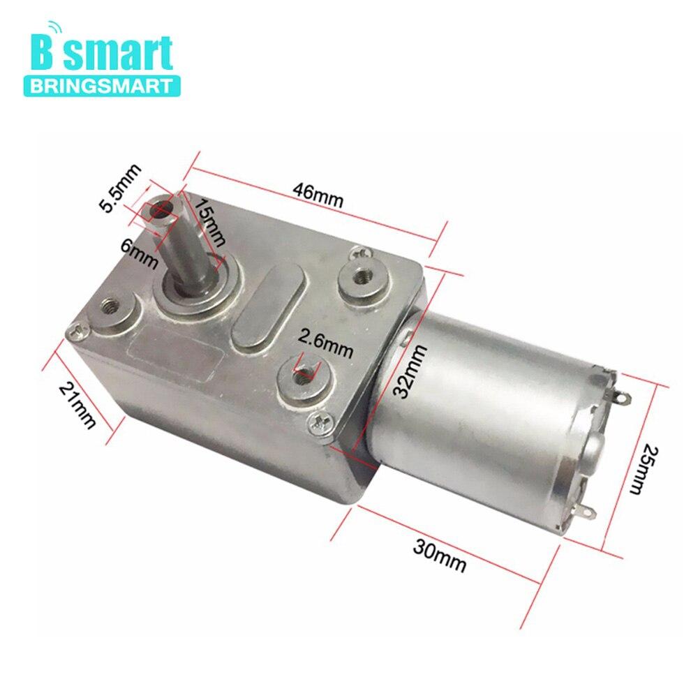 Bringsmart JGY-370 Motor de engranaje de tornillo sin fin 12 voltios pequeño Motor eléctrico 12v Dc Motor 6v reductor 18v con autobloqueo