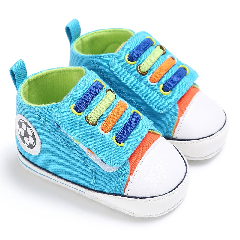0-18M Baby Colorul Shoelaces Casual Sneaker Shoes Baby Boy Girl Soft First Walkers Sports Shoes Zapatos
