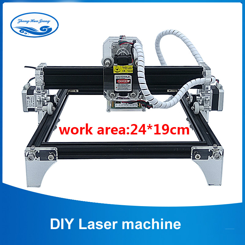Working Area 24cmx19cm,500mw/2500mw/5500mw/7.5w  Desktop CNC DIY Violet Laser Engraving Machine Picture CNC Wood Router Printer