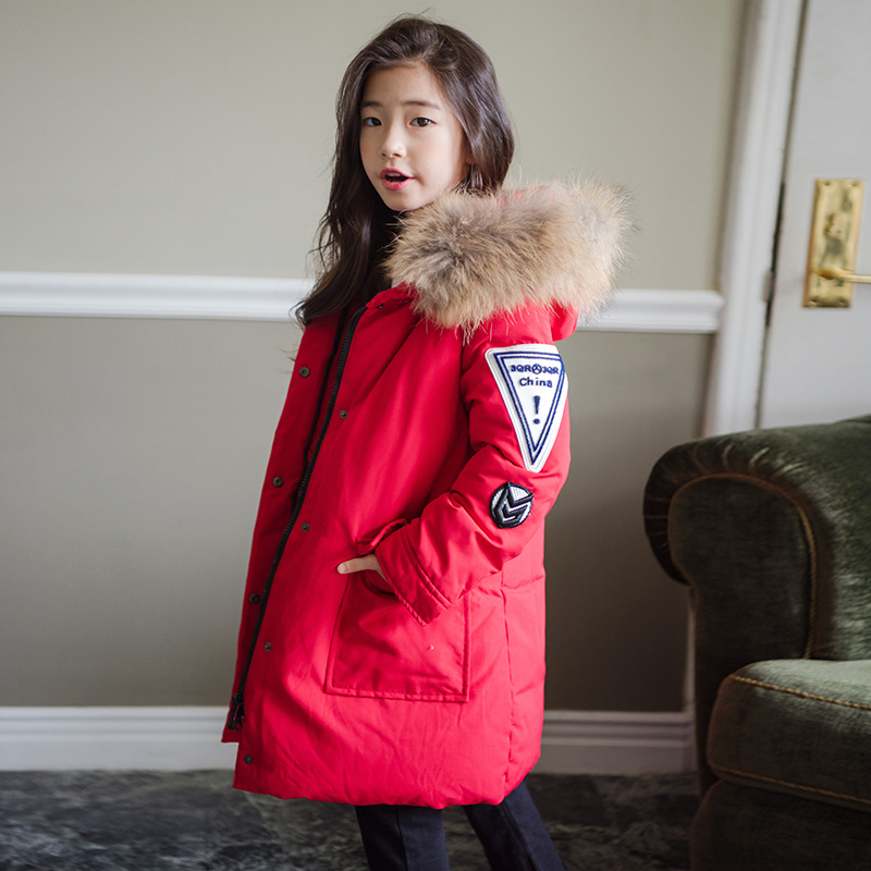2019 New Girls Long Sleeve Hood Clothing Cotton Padded Winter Clothes Fur On Hood Coat Kids jacket Snowy Outwear parka Long Coat2019 New Girls Long Sleeve Hood Clothing Cotton Padded Winter Clothes Fur On Hood Coat Kids jacket Snowy Outwear parka Long Coat