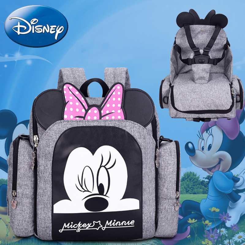 Disney 2019 New Dining Chair Bag Diaper Bag Multifunctional Mummy Bags Maternity Nappy Waterproof Mother Handbag Backpack TravelDisney 2019 New Dining Chair Bag Diaper Bag Multifunctional Mummy Bags Maternity Nappy Waterproof Mother Handbag Backpack Travel