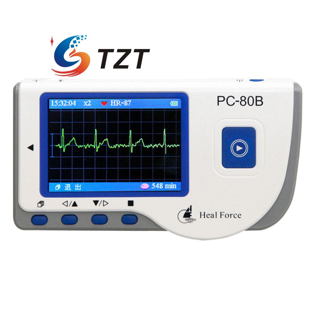 PC 80B Handheld ECG Monitor LCD Electrocardiogram Heart Monitor Recorder Health Care Machine