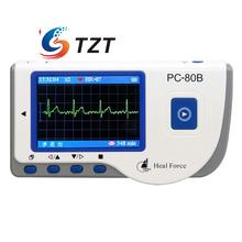 PC-80B Handheld ECG Monitor LCD Electrocardiogram Heart Monitor Recorder Health Care Machine