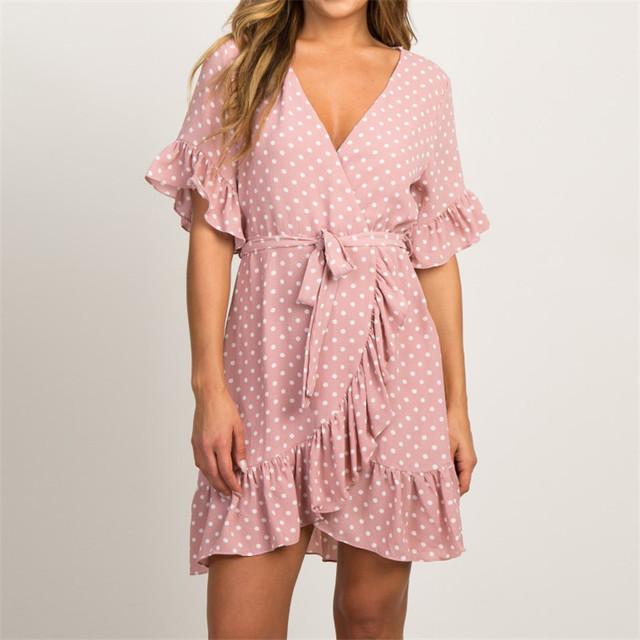 Summer Chiffon V-Neck Dress