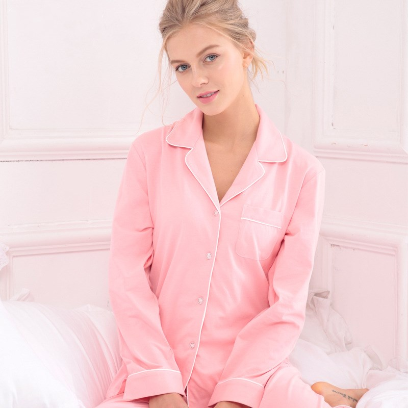 620ef09342 2017 Women Winter Pyjama Set Long Sleeved Cotton Pajamas Women Adult  Sleepwear Blue Pink Black-in Pajama Sets from Underwear   Sleepwears on  Aliexpress.com ...