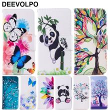 Stand Cases For Fundas LG G7 ThinQ Q8 K7 K8 2017 K10 2018 Coque Panda Butterflies Leather Wallet Card Bit Cover Bags DP07Z