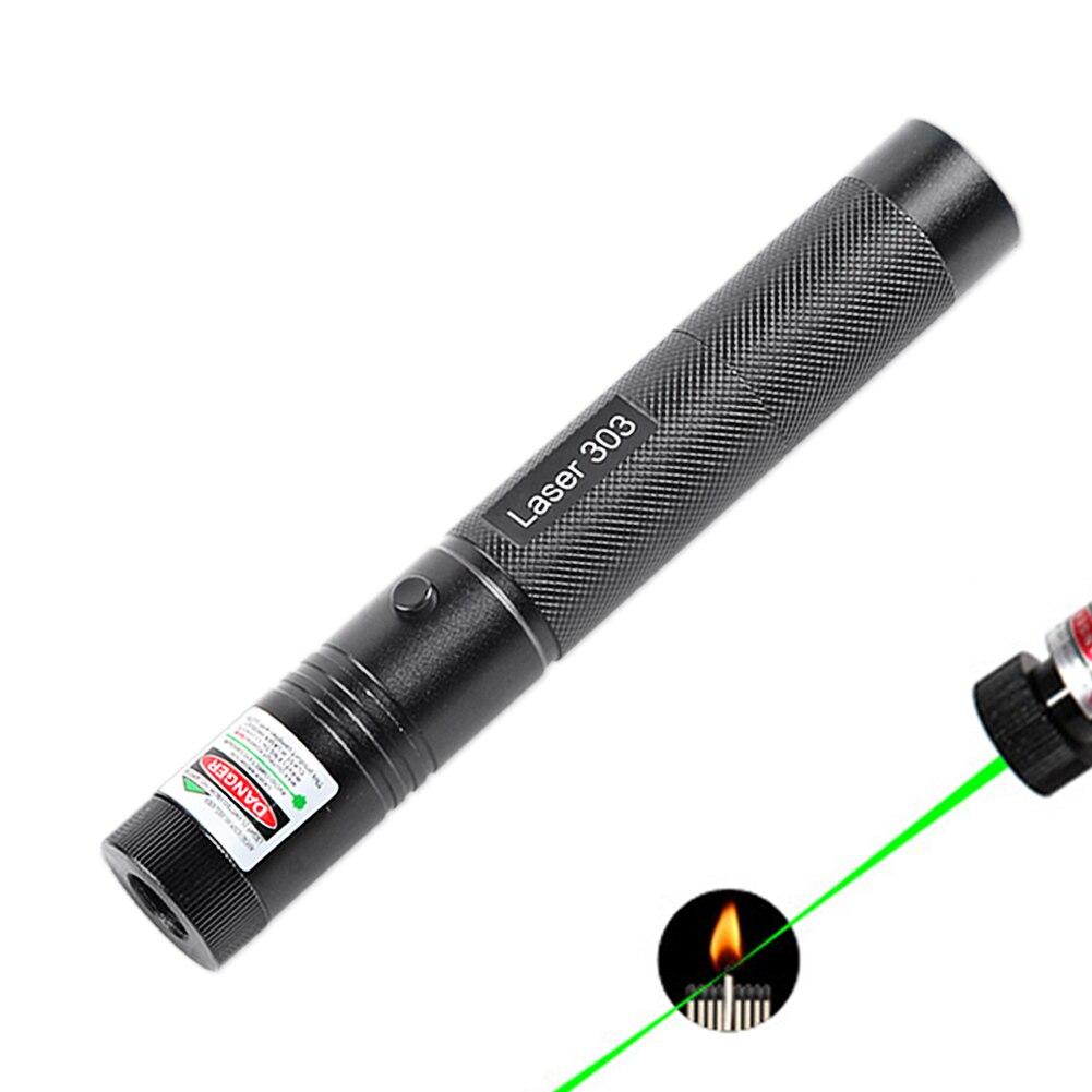 IMice Mächtige Grüne Laserpointer 303 Brennen Lazer Stift 532nm 5 mw Military High Power 18650 Batterie Einstellbare Starry Kopf
