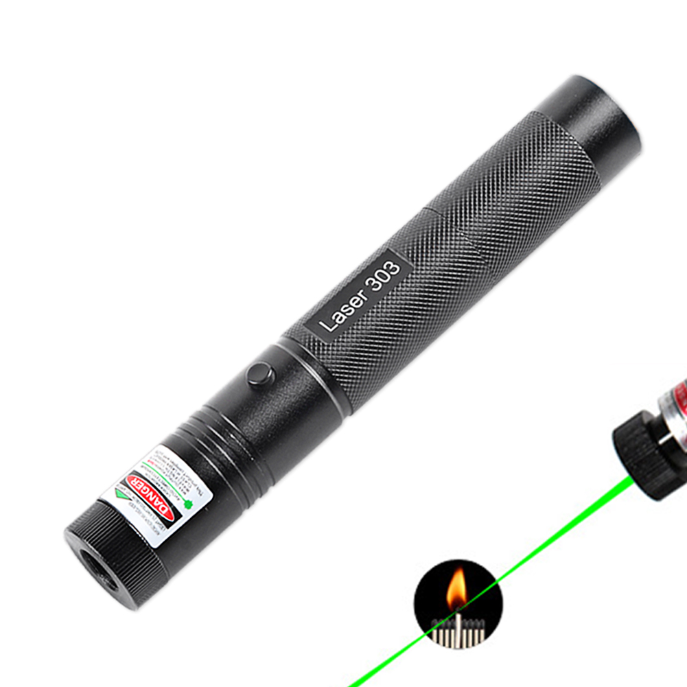 iMice Powerful Green Laser Pointer 303 Burning Lazer Pen 532nm 5mW Military High Power 18650 Battery Adjustable Starry Head sd 210 aluminum 5mw 532nm green laser pointer black 1 x 18650