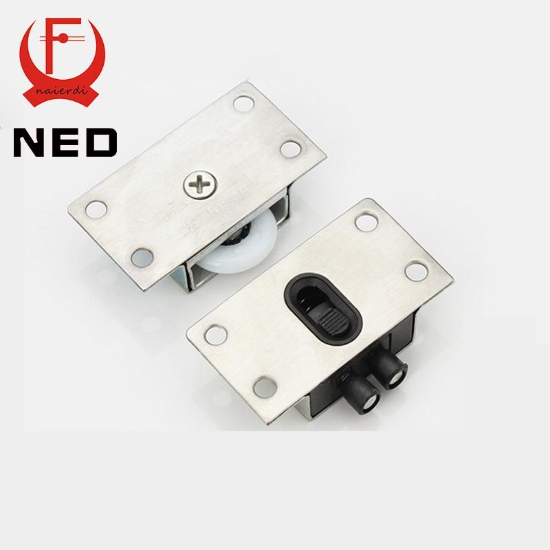 4Set 2016 NED APS Stainless Steel Sliding Door Wheel Cabinet Nylon Wheels  Hanging Wheel Parts Door Rollers Door Hardware In Door Rollers From Home ...