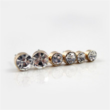 Earrings For Women 12 Pairs Sets Crystal Stud