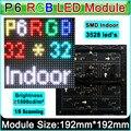 Крытый RGB P6 СВЕТОДИОДНЫЙ дисплей видеостена модуль, P6 SMD 3 в 1 полноцветный СВЕТОДИОДНЫЙ модуль дисплея, Постоянная вождения 1/8 Сканирования, 192 мм * 192 мм