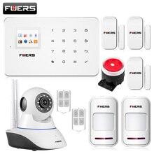 を Fuers ワイヤレス G18 アプリ制御 GSM 警報システムホームセキュリティ警報 99 ワイヤレスゾーン TFT カラーディスプレイ内蔵サイレン GSM 警報