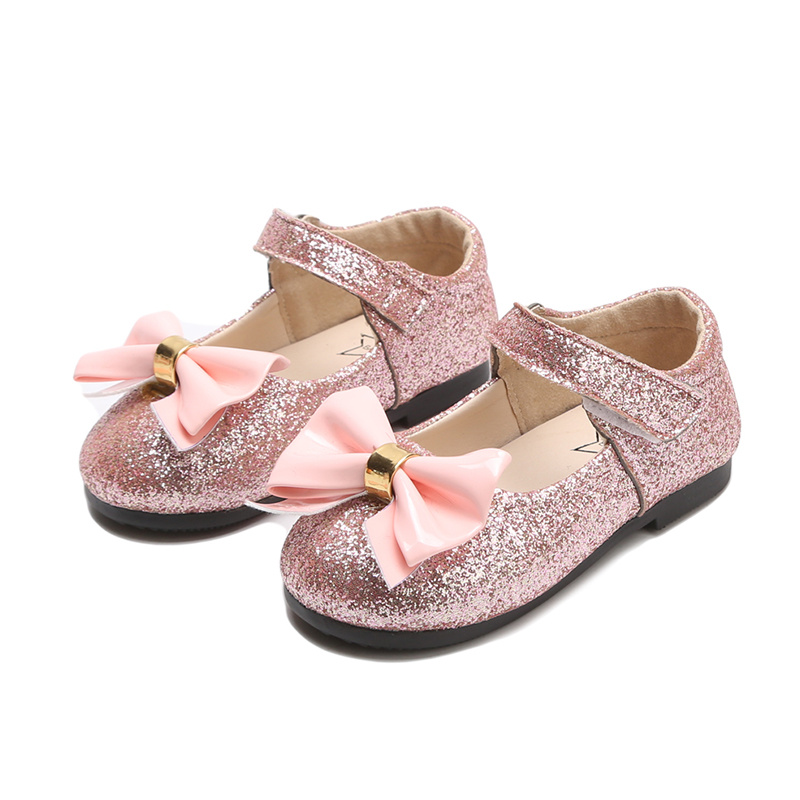 Children Shoes  Little Baby Single Shoes  Kids Shoes For Girl  Soft Bottom Performance Shoes Leather Shoes With Bowknot SMG019