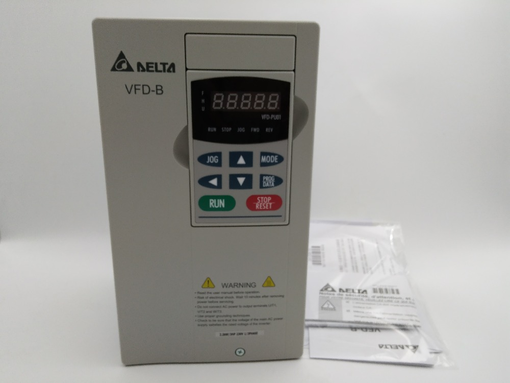 Hot selling VFD022B21A Delta 2.2kw vfd inverter 2200w ac motor drive single phase 220v ac drive original new vfd110cp43b 21 delta vfd cp2000 vfd inverter frequency converter 11kw 15hp 3ph ac380 480v 600hz fan and water pump