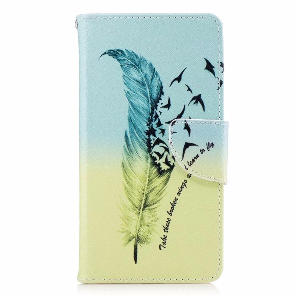 Untuk huawei honor 6x case magnetic balik dompet kulit painted case - Aksesori dan suku cadang ponsel - Foto 5