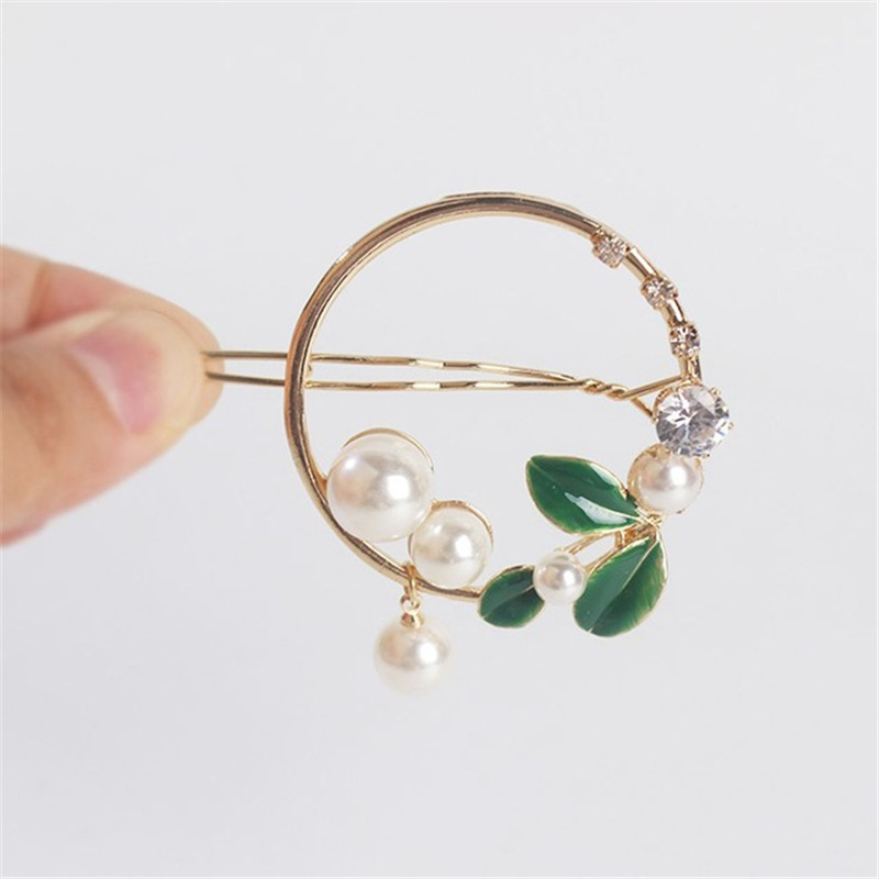 2019-New-Fashion-Women-Girls-Gold-Green-Leaf-Metal-Circle-Moon-Hair-Clips-Alloy-Round-Pearl.jpg_640x640