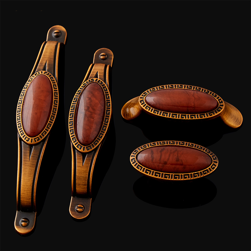 High Quality 10PCS European Inlaid Jade Kitchen Door Furniture Handles Cupboard Wardrobe Drawer Cabinet Pulls Handles and Knobs push to open beetles drawer cabinet latch catch touch release kitchen cupboard new arrival high quality
