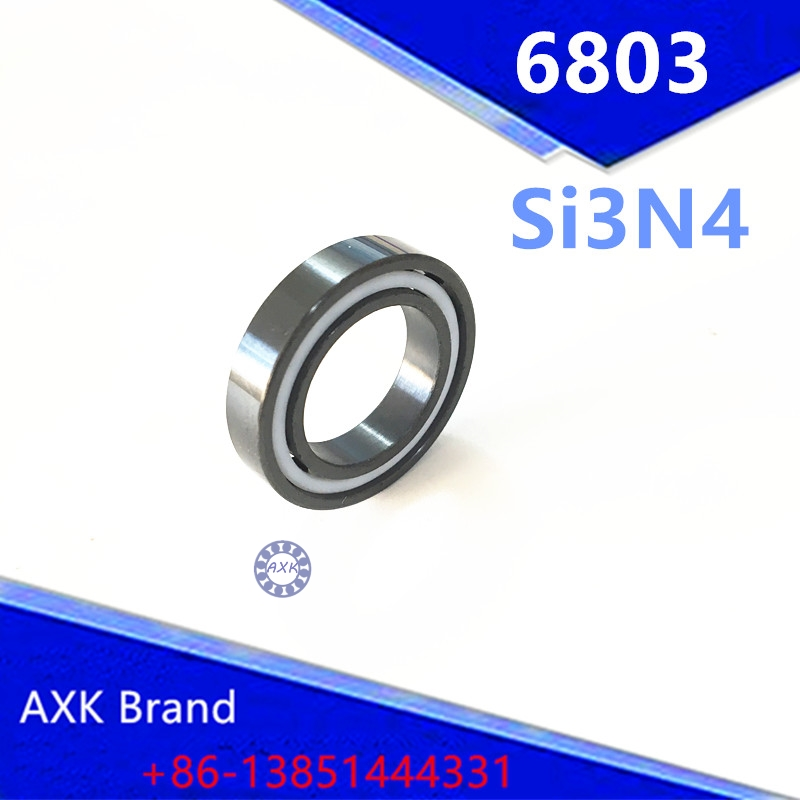 Free shipping 6803 full SI3N4 ceramic deep groove ball bearing 17x26x5mm 61803 bearing 6803 free shipping 6803 full si3n4 ceramic deep groove ball bearing 17x26x5mm 61803 bearing high quallity by haokun