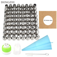 76 Pcs Russian Piping Tips Set Icing Tips Cake Decoration Tips Cake Tools 72 Russian Nozzles