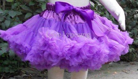 Púrpura niñas pettiskirts mullidos tutú muchachas de la falda de la danza de la falda muchachas de la falda de pettiskirt mullido y suave