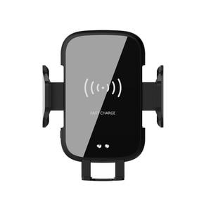 Image 4 - Bezprzewodowa ładowarka samochodowa 10W Qi automatyczna do xiaomi 9 Max Samsung S8 szybka ładowarka na podczerwień Air Vent uchwyt samochodowy do telefonu