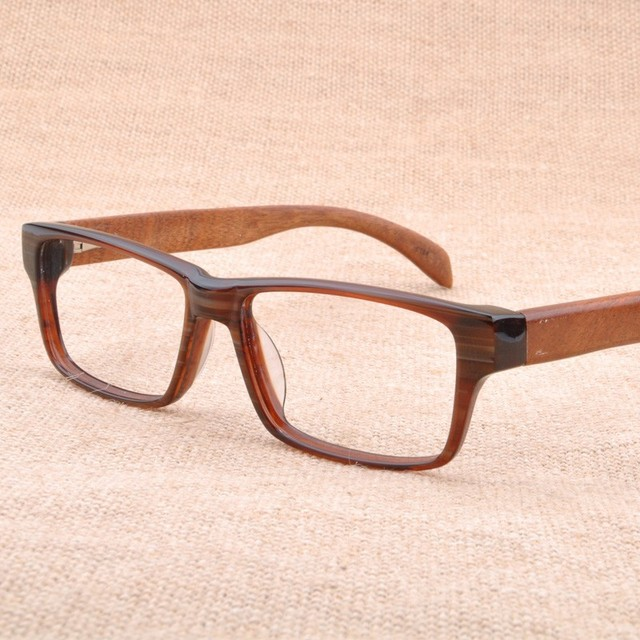 Vazrobe Real Wood Glasses Frame Men Women Wooden Frames for Man ...