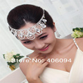 2016 Hot Sale Fashion Jewelry Set Bridal Head Garland Flower Headdress Teardrop Earring Dual-use Necklace Be Frontlet
